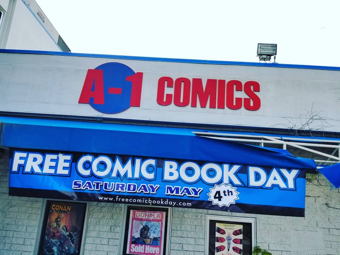 Store Front of Comic Book Store