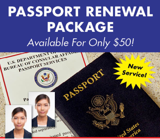 Passport Renewal Package $50