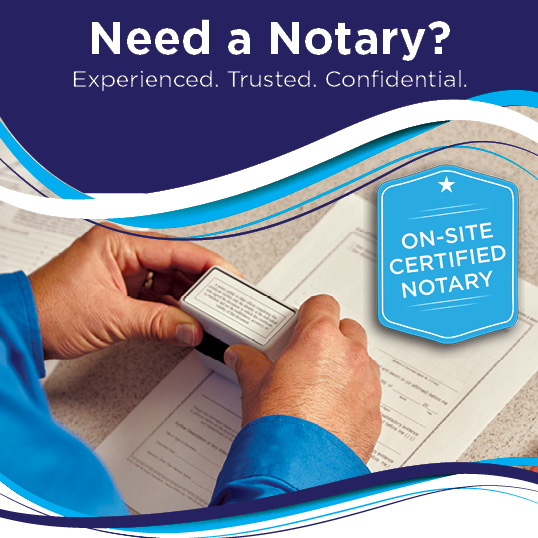 Notary Public Services at AIM Mail Centers