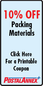 PostalAnnex Packing Supplies Coupon