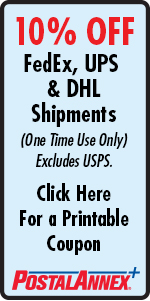 PostalAnnex FedEx UPS DHL Shipping Coupon