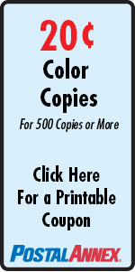 20 Cent Color Copies for 500 Copies or More