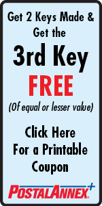 PostalAnnex Sherman Oaks Studio City Get Your 3rd Key FREE