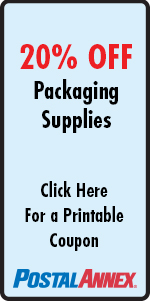 20% OFF Packaging Supplies