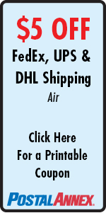 $5 OFF FedEx, UPS, & DHL Air Shipping