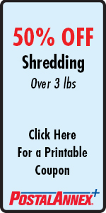 PostalAnnex of Eagle 50% Off Shredding Over 3 Pounds