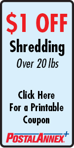 PostalAnnex+ Scrippos Ranch $1 Off Shredding Coupon