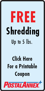 FREE Shredding up to 3 Pounds