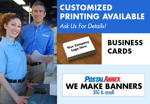 Custom Banner and Business Card Printing at PostalAnnex+ in Azusa