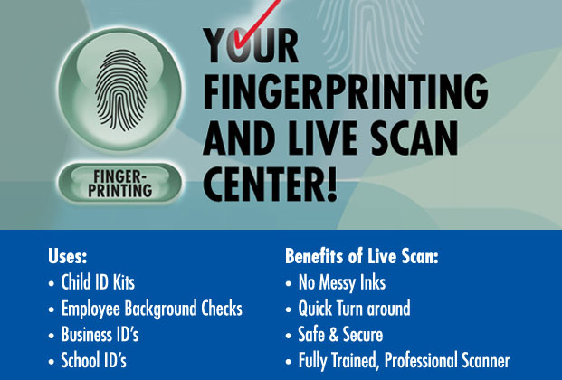 Live Scan Fingerprinting services at PostalAnnex+ in Escondido, CA