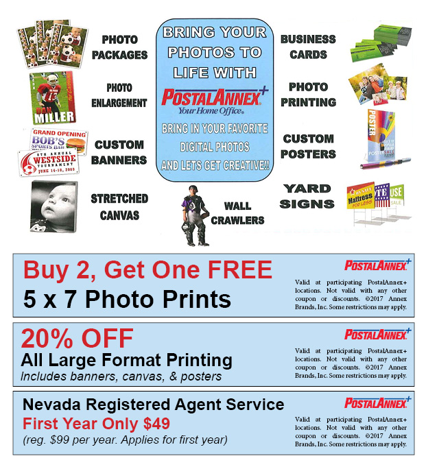 PostalAnnex+ Las Vegas NV Print Services Special Coupon Offer