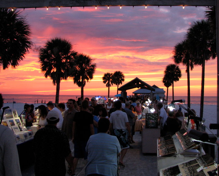 sunsets at pier 60 festival in clearwater  fl