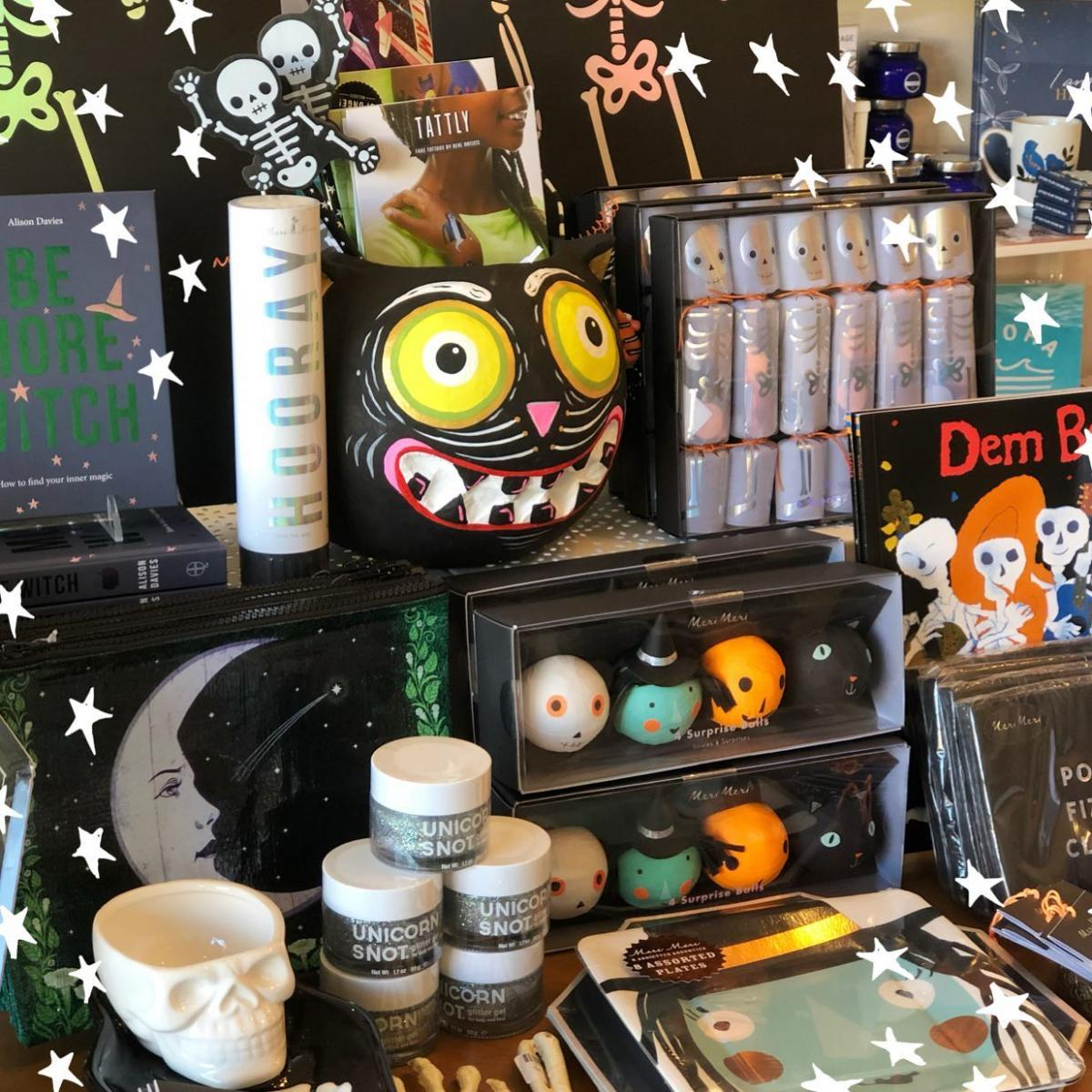 Halloween decor at the shop