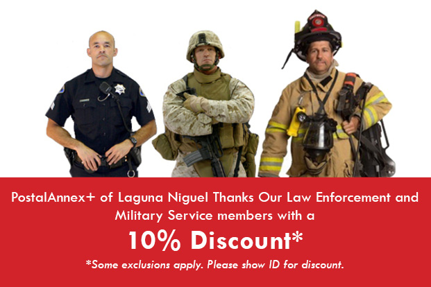 Military / Law Enforcement / Fire Dept - 10% Discount
