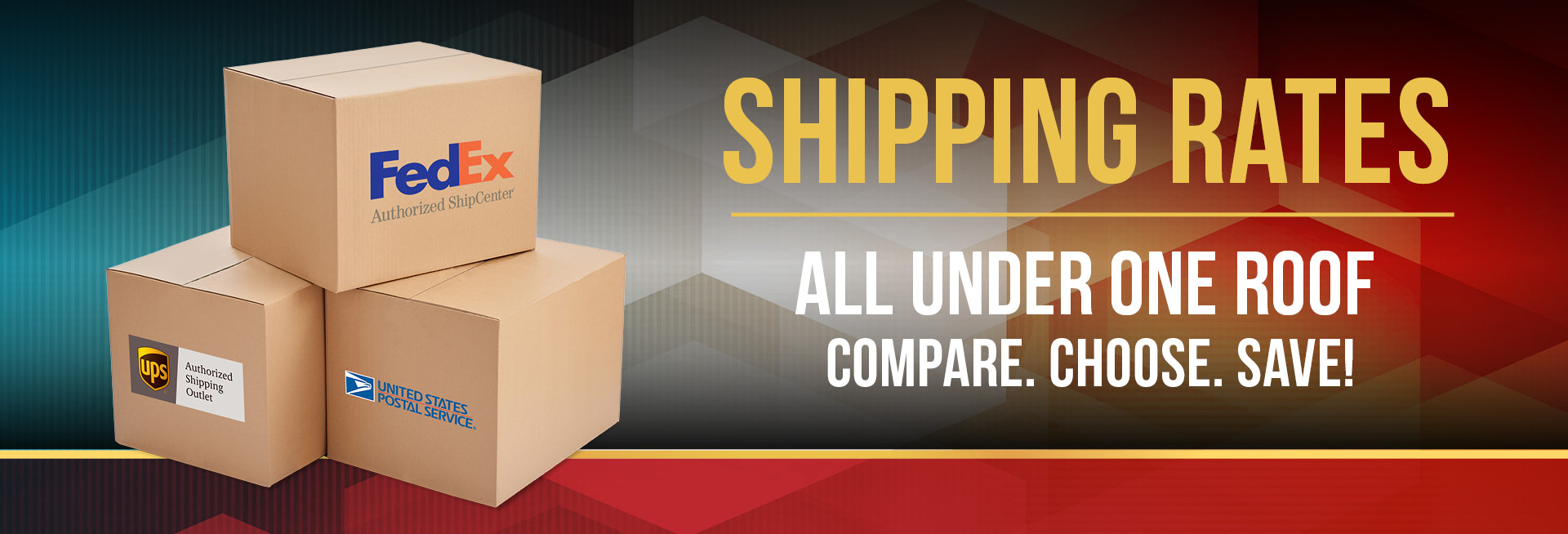 Shipping Rates - All Under One Roof - Compare. Choose Save!